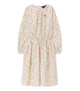Tortoise - raw white dots dress