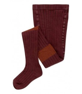 Tights warm berry and chestnut