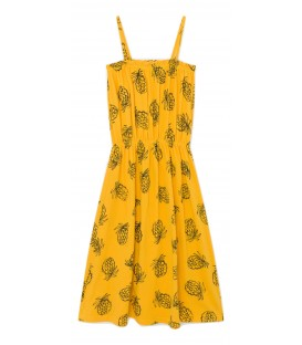 AOP Pineapple jersey dress