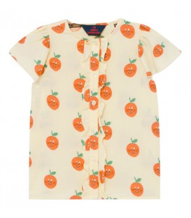 Parakeet - Shirt with frills Oranges