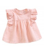 Baby tunic w/frills light pink