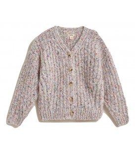 Multicolor knitted cardigan