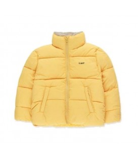 Solid padded jacket yellow