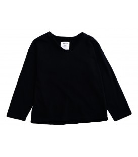 L/S sweater black w/V neck