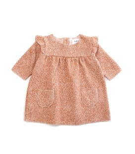 Baby Jacquard dress w/pattern