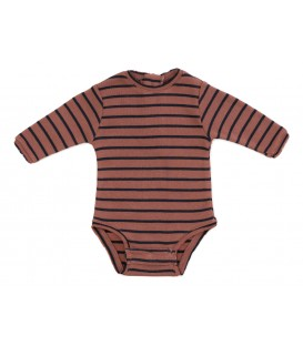 WEE Baby striped body brick/grey