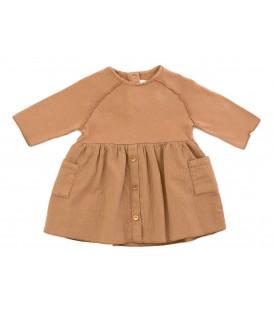 Vestido de mistura de bebé c/bolsos