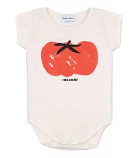 Body m/curta branco de bebé Tomato