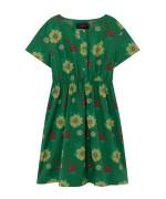 DOLPHIN KIDS DRESS Green Flowers