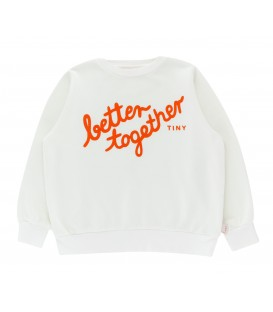 BETTER TOGETHER SWEATSHIRT off-white/red