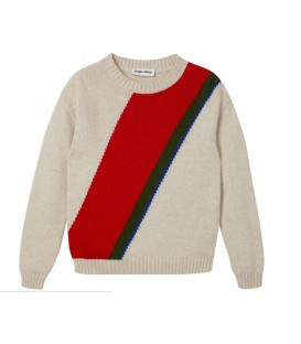 Sweater com riscas diagonais
