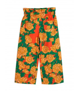 PEONIES WOVEN PAPER BAG TROUSERS
