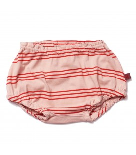 Baby Bloomer Pink Earth Stripes