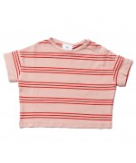 Baby Tee Pink Earth Stripes