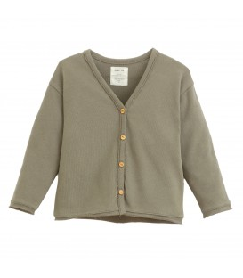 Cardigan w/wooden buttons
