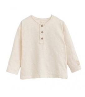 L/s T-shirt w/buttons Dandelion