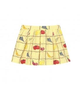 Saia Bird Amarelo Claro c/Frutas