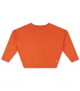 Boxy Sweater Spicy Orange Red