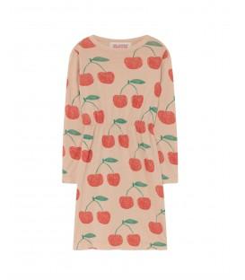 Vestido CRAB rosa com cerejas