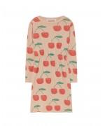 CRAB KIDS DRESS Soft Pink Cherries