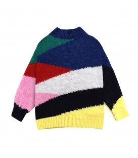 Multicolor knitted jumper