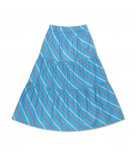 Cloudy Skirt Diagonal Stripes