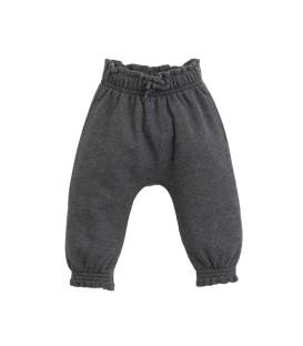 Calças de Bebé c/folho Cinza Mesclado
