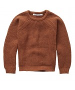 Knit Sweater Brunished Leather