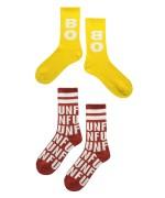 BOBO AND FUN Long Socks red/yellow