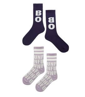 BOBO AND FUN Long Socks dark/gray