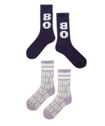 BOBO AND FUN Long Socks purple