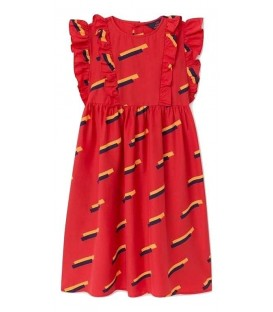 Otter - red 80's dress