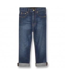 OLLIBIS calças de ganga azul médio