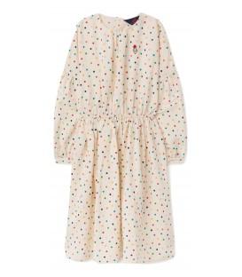Tortoise - raw white dots dress