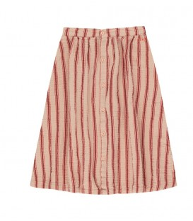 Retro stripes midi skirt