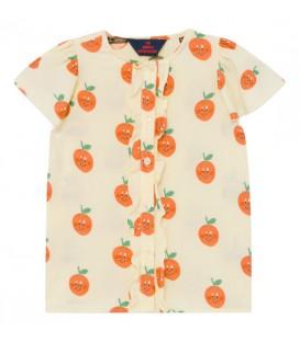 Parakeet - Blusa c/folhos Oranges