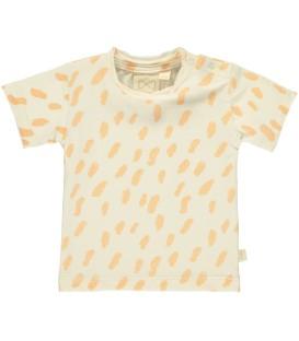 MINI SIBLING T-shirt m/curta cor de baunilha