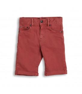 Edmond calções vermelho desgastado