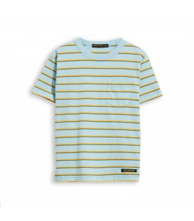 Kid sun blue stripes t-shirt