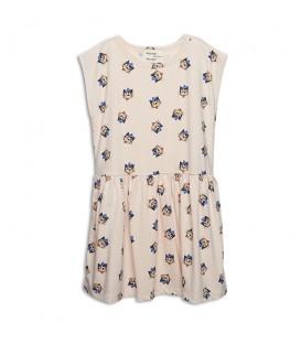 Nadine AOP Le Chat dress