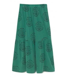 Ladybug - Long Skirt Green Planet