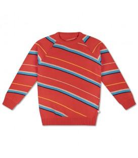 Camisola de malha c/riscas diagonais