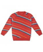 Knit Raglan Sweater Diagonal Stripe